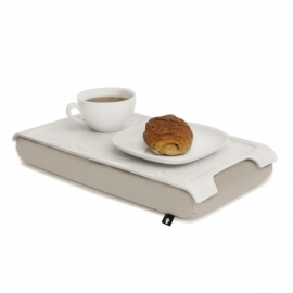 Mini laptray hout/creme