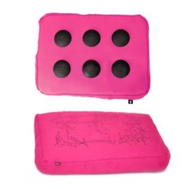 Surfpillow roze/zwart polyester