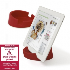 KITCHEN TABLET STAND RED