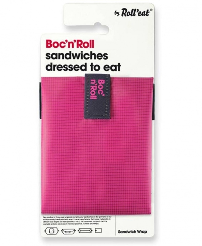 Boc`n Roll duurzaam broodzakje roze