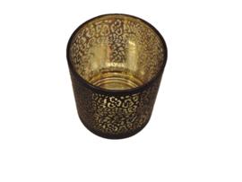 Glas panter goud/zwart S