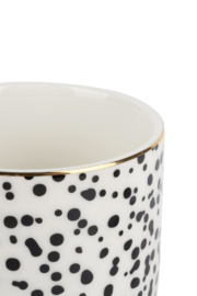 Koffiemok 'Spikkel/goud' ZUSSS