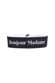 Elastisch armbandje 'Bonjour Madame' zwart  ZUSSS