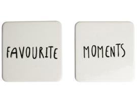Onderzetters 'Favorite Moments', set van 2