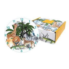 Kids Wall and Table Clock Safari