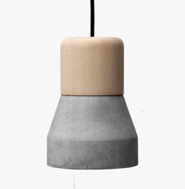 Hanglamp Gaby, beton/hout