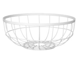 Fruitschaal open grid, wit