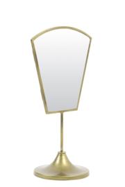 Tafelspiegel 'Art deco' , oud brons