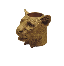 Candleholder Leopard gold