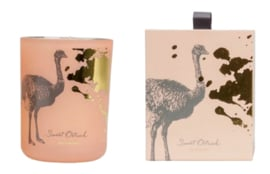 Geurkaars 'Bird' collection, pink Sweet Ostrich