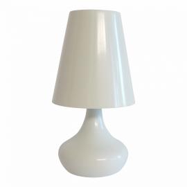 Tafellamp metaal wit