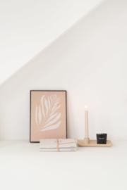Kandelaar met blad keramiek zand ZUSSS