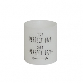 Holle kaars 'perfect day', Rustik Lys
