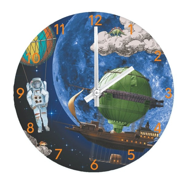 Kids Wall and Table Clock Space