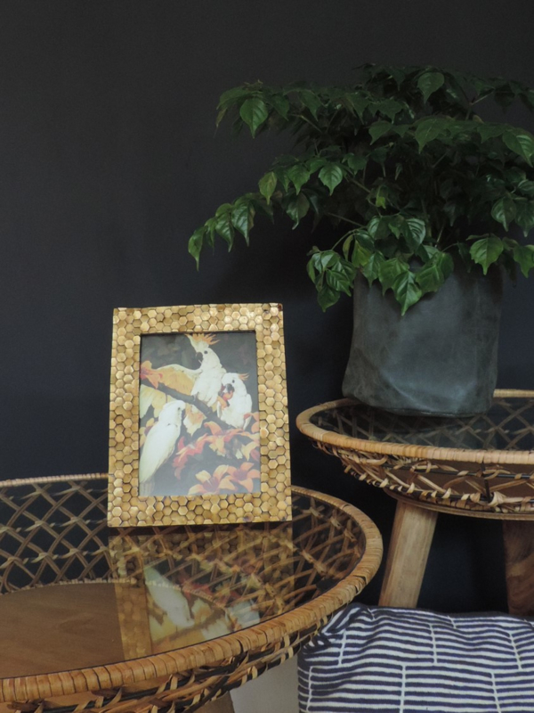 Fotolijst Hexagon goud 10x15cm