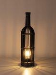 Tafellamp 'DIY' hout zwart, incl. lichtbron