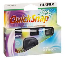 Fujifilm quicksnap wegwerp fototoestel  met Flits 400 ASA 24 + 3 opnamens