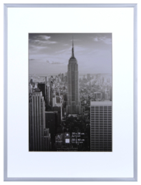 Manhattan 40x50 zilver
