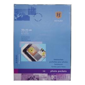 Fototassen 10x15 10 st. verticaal transparant