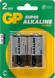 GP Alkaline batterij 1,5v LR14 C 2 pack