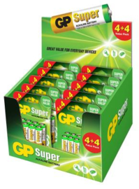 GP Alkaline Batterijen AAA Super 4 + 4