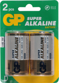 GP Alkaline batterij 1,5v LR20D  2 pack