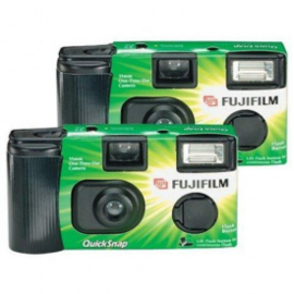Fujifilm quicksnap wegwerp fototoestel duo pack fashion