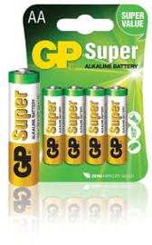 GP Alkaline Batterijen AA Super 4stuks