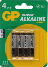 GP Alkaline batterij 1,5v LR 03 (4 pack)