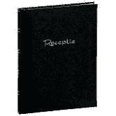 """Receptie album """"Basic Line"""" Zwart   32 blz met vakjes"""