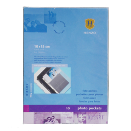 Fototassen  10x15 10 st. horizontaal transparant