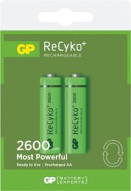GP NiMH ReCyko+ AA 2600 2 pack