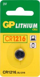 GP Lithium batterij  3V CR1216