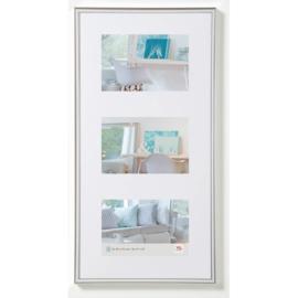 New lifestyle kunststof lijst voor 3x 13x18 zilver