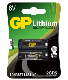 GP Lithium batterij 6V 2CR5
