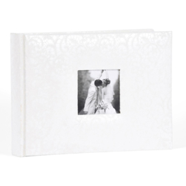 "Fotoalbum ""Cira"" Huwelijk  Wit 40 blz  17h x 23b"