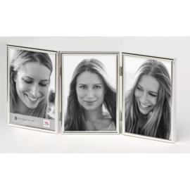 Chloe 3 luik 10x15 zilver