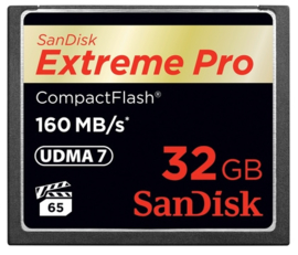 Sandisk Extreme PRO Compact Flash kaart 32GB 160mb/s