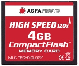 AgfaPhoto 4 GB CompactFlash-kaart HighSpeed (MLC)