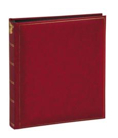 Fotoalbum BASICLINE Rood met zwarte bladen
