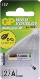 GP High voltage batterij 27A  12V