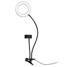 Dorr LED selfie ring licht Bi-color 60-90 mm USB SLR-16