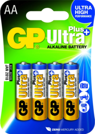 GP Ultra Plus AA Alkaline batterijen 4 stuks