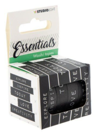 WASHISL02 SL Washi tape black/white - Essentials nr.02