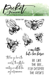 A-142 Picket Fence Studios I Bee Fierce Clear Stamps