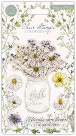 CCSTMP006 Craft Consortium Wildflower Meadow Clear Stamps Fresh Cut
