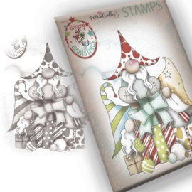 PD7943 Polkadoodles Gnome Gift Of Xmas Clear Stamp