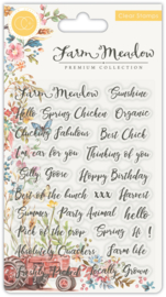 CCSTMP028 Craft Consortium Sentiments Clear Stamps