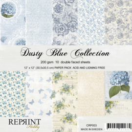 CRP003 Reprint 12x12 Inch Collection Pack Dusty Blue