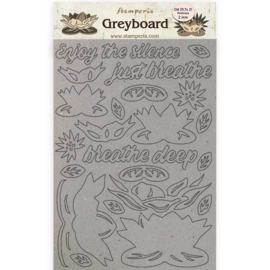 KLSPDA420 Stamperia Greyboard A4 Amazonia Waterl Lily